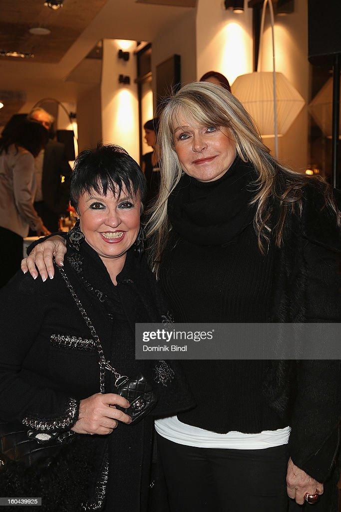 Uschi Ackermann and Claudia Carpendale attend the opening of the Roche Bobois shop on January 31, 2013 in Munich, Germany.