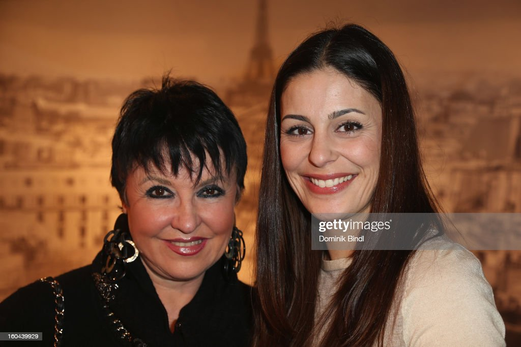 Uschi Ackermann and Funda Vanroy attend the opening of the Roche Bobois shop on January 31, 2013 in Munich, Germany.