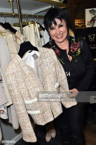 Uschi Ackermann during the 'Kunst Kleid' fashion cocktail on April 25 2017 in Munich Germany