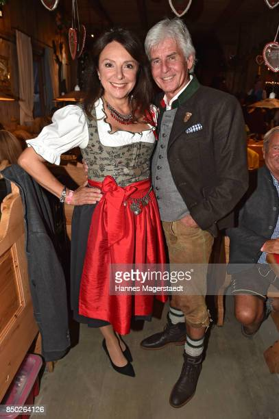 Uschi Daemmrich von Luttitz and Frederic Meisner attend the Radio Gong 963 Wiesn during the Oktoberfest 2017 on September 20 2017 in Munich Germany