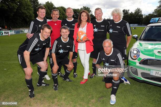Uschi Daemmrich von Luttitz and players 'Sternstunden' team during the Erich Greipl Tribute tournament and charity soccer game at the...