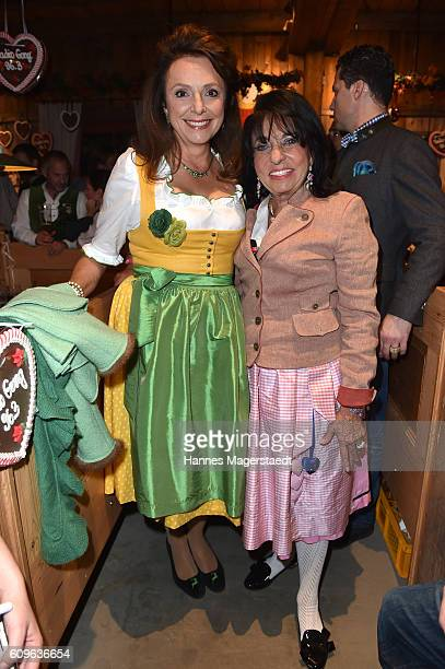 Uschi Daemmrich von Luttitz and Regine Sixt during the Radio Gong 963 Wiesn during the Oktoberfest 2016 on September 21 2016 in Munich Germany