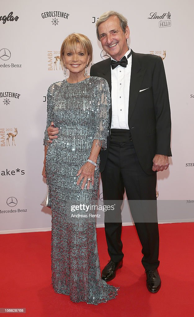 Uschi Glas and Dieter Hermann attend 'BAMBI Awards 2012' at the Stadthalle Duesseldorf on November 22, 2012 in Duesseldorf, Germany.