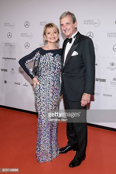 Uschi Glas and Dieter Hermann attend the 65th Bundespresseball at Hotel Adlon on November 25 2016 in Berlin Germany