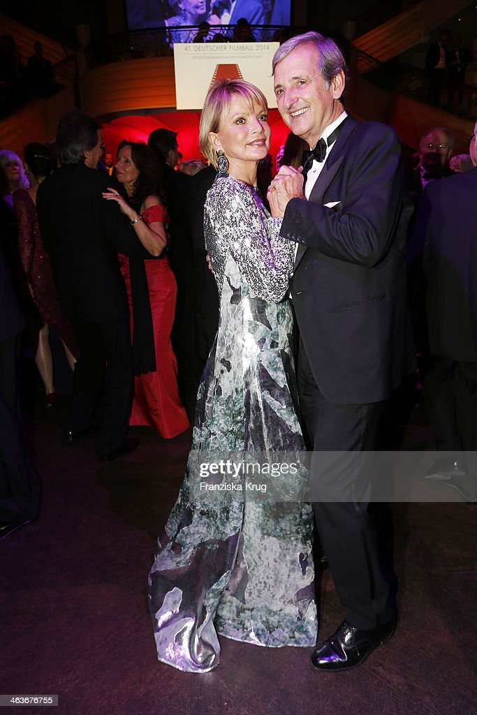 <a gi-track='captionPersonalityLinkClicked' href=/galleries/search?phrase=Uschi+Glas&family=editorial&specificpeople=213394 ng-click='$event.stopPropagation()'>Uschi Glas</a> and Dieter Hermann attend the German Film Ball 2014 (Deutscher Filmball) on January 18, 2014 in Munich, Germany.