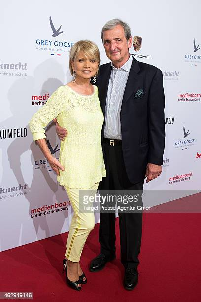 Uschi Glas and Dieter Hermann attend the Medienboard BerlinBrandenburg Reception at Ritz Carlton on February 7 2015 in Berlin Germany