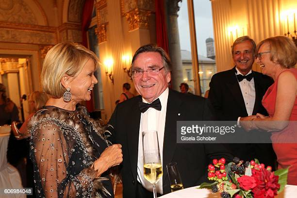 Uschi Glas and Elmar Wepper during the traditional Buehnendinner 2016 at Bayerische Staatsoper on September 16 2016 in Munich Germany
