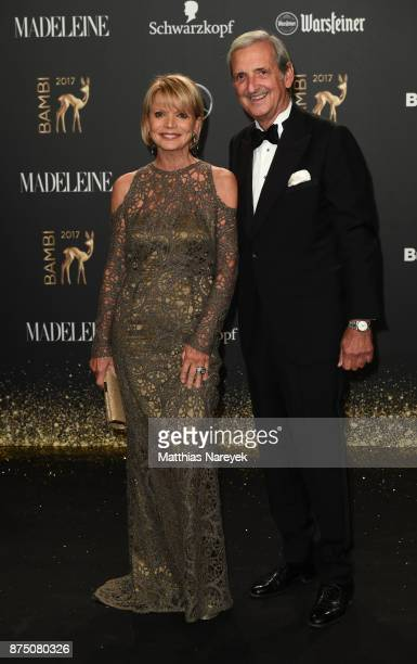 Uschi Glas and her husband Dieter Hermann arrive at the Bambi Awards 2017 at Stage Theater on November 16 2017 in Berlin Germany