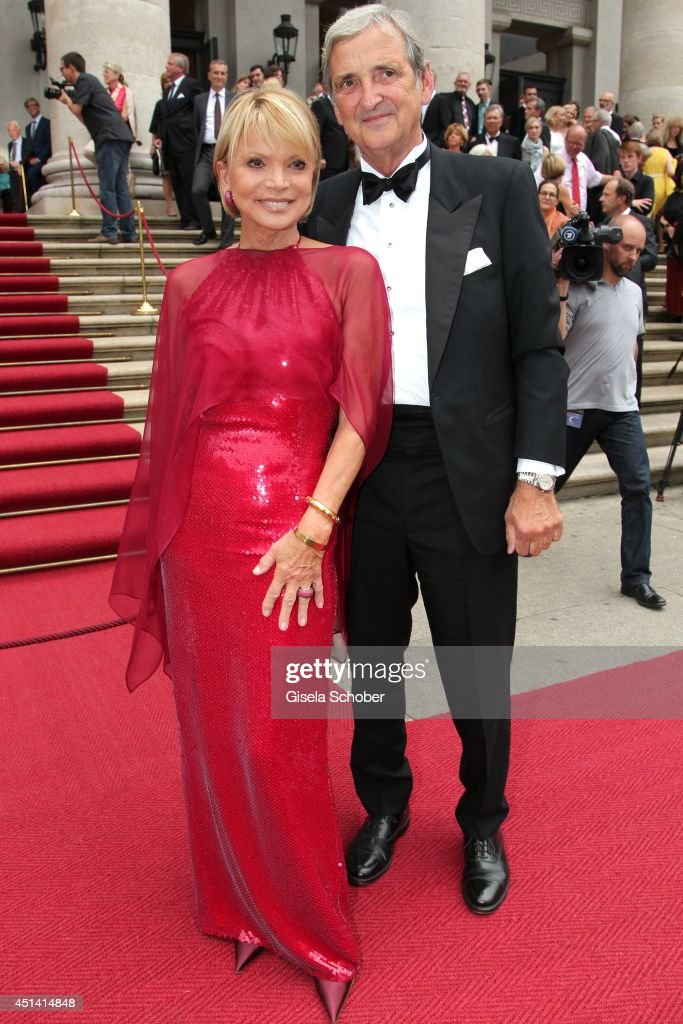 <a gi-track='captionPersonalityLinkClicked' href=/galleries/search?phrase=Uschi+Glas&family=editorial&specificpeople=213394 ng-click='$event.stopPropagation()'>Uschi Glas</a> and her husband Dieter Hermann attend the 'Guillaume Tell' Opera Premiere at the Opera Festival Opening In Munich on June 28, 2014 in Munich, Germany.