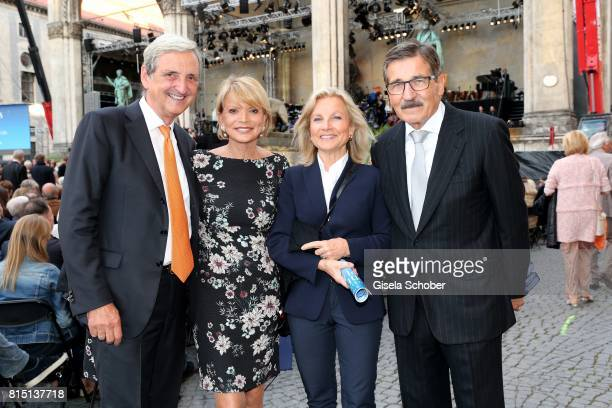 Uschi Glas and her husband Dieter Hermann Manfred Bischoff and his wife Wiltrud Bischoff at the MercedesBenz reception at 'Klassik am Odeonsplatz' on...
