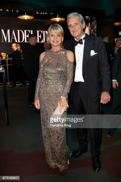 Uschi Glas and her partner Dieter Hermann pose at the Bambi Awards 2017 party at Atrium Tower on November 16 2017 in Berlin Germany