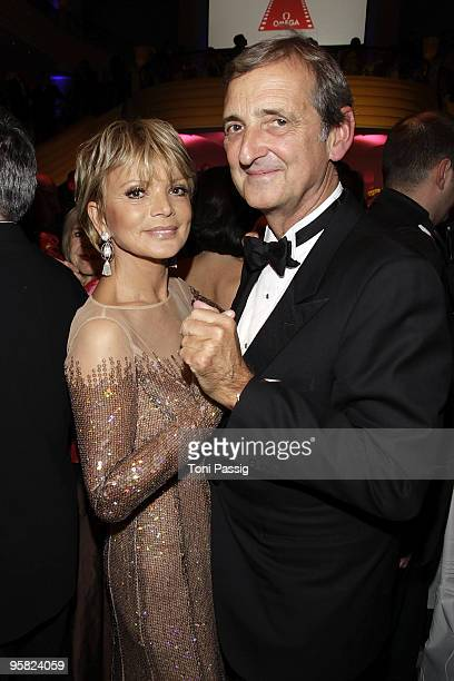 Uschi Glas and husband Dieter Hermann attend the 37 th German Filmball 2010 at the hotel Bayrischer Hof on January 16 2010 in Munich Germany