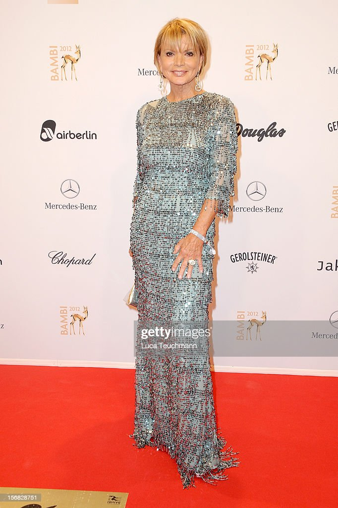 Uschi Glas attends 'BAMBI Awards 2012' at the Stadthalle Duesseldorf on November 22, 2012 in Duesseldorf, Germany.