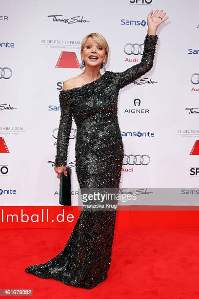 Uschi Glas attends the German Film Ball 2015 on January 17 2015 in Munich Germany
