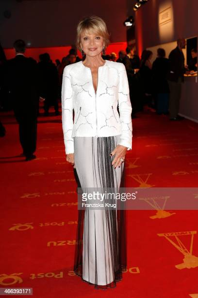 Uschi Glas attends the Goldene Kamera 2014 at Tempelhof Airport on February 01 2014 in Berlin Germany