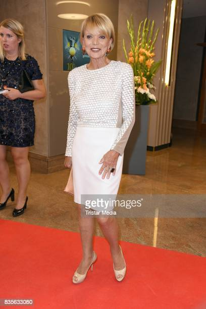 Uschi Glas attends the GRK Golf Charity Masters evening gala on August 19 2017 in Leipzig Germany