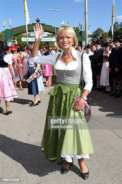 Uschi Glas attends the Regines Sixt Damen Wiesn during the Oktoberfest 2015 on September 21 2015 in Munich Germany