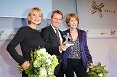 Uschi Glas Daniel Bahr and Christa Maar attend the Felix Burda Award 2013 at Hotel Adlon on April 14 2013 in Berlin Germany