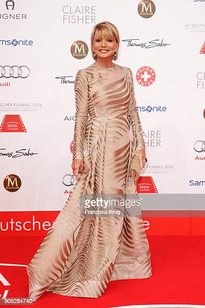 Uschi Glas during the German Film Ball 2016 at Hotel Bayerischer Hof on January 16 2016 in Munich Germany