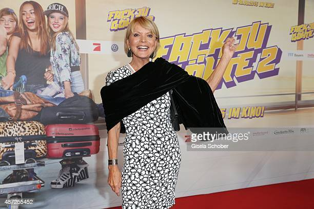 Uschi Glas during the world premiere of 'Fack ju Goehte 2' at Mathaeser Kino on September 7 2015 in Munich Germany