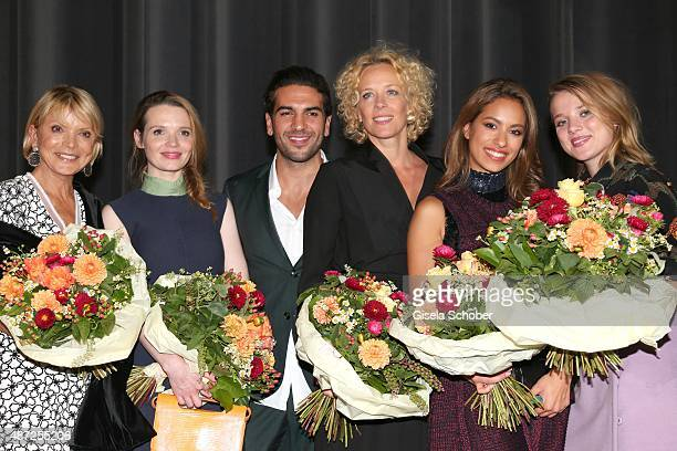 Uschi Glas Karoline Herfurth Elyas M'Barek Katja Riemann Gizem Emre and Jella Haase during the world premiere of 'Fack ju Goehte 2' at Mathaeser Kino...