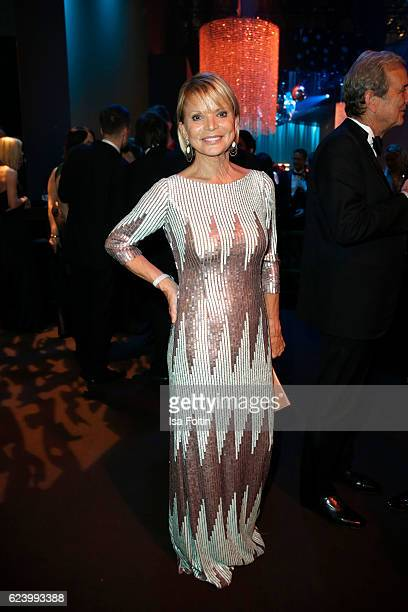 Uschi Glas poses at the Bambi Awards 2016 party at Atrium Tower on November 17 2016 in Berlin Germany