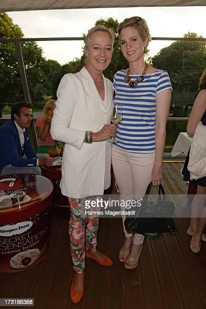 Uschi Princess zu Hohenlohe and Minzi Princess zu Hohenlohe attend the House of HaeagenDazs Barbecue Icecream Party at BMW World on July 9 2013 in...