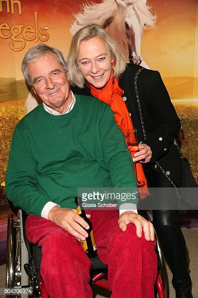 Uschi Prinzessin zu Hohenlohe and her husband Peter Prinz zu Hohenlohe during the 'APASSIONATA Im Bann des Spiegels' VIP reception at Olympiahalle on...