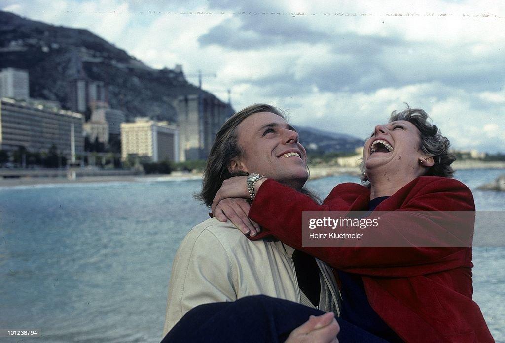 Sweden Bjorn Borg with fiancee Mariana Simionescu during photo shoot. Monte Carlo, Monaco 3/1/1980--3/31/1980