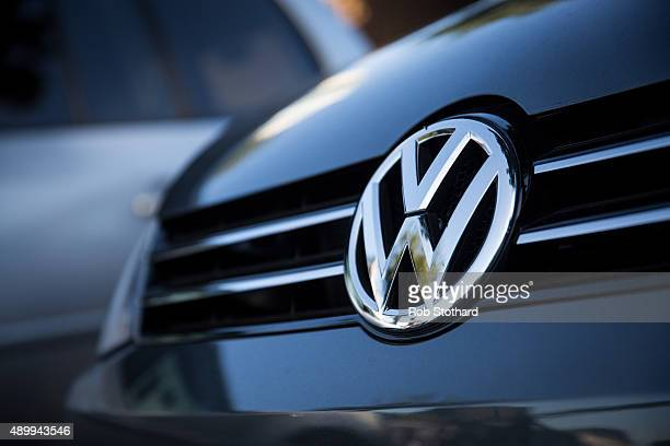 Used cars by German manufacturer Volkswagen are parked at a dealership in Battersea on September 25 2015 in London England The Department for...