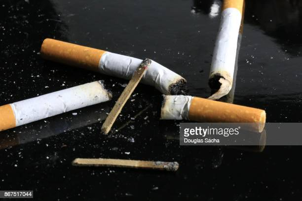 Used Cigarette Butts