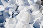 Large Quantity of Used Disposable Cups
