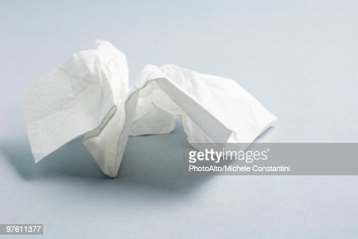 Used facial tissue