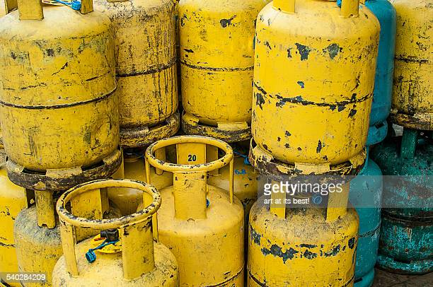 Used gas containers