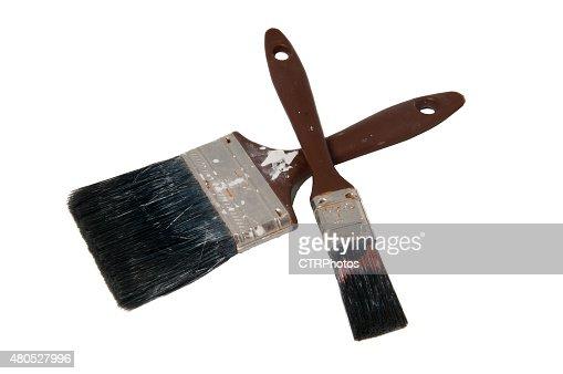 Used Paint Brushes : Stock Photo