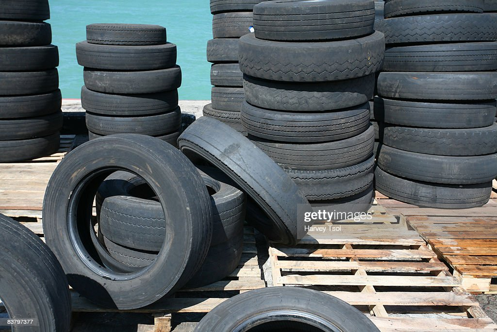 used tires stock photo getty images. Black Bedroom Furniture Sets. Home Design Ideas