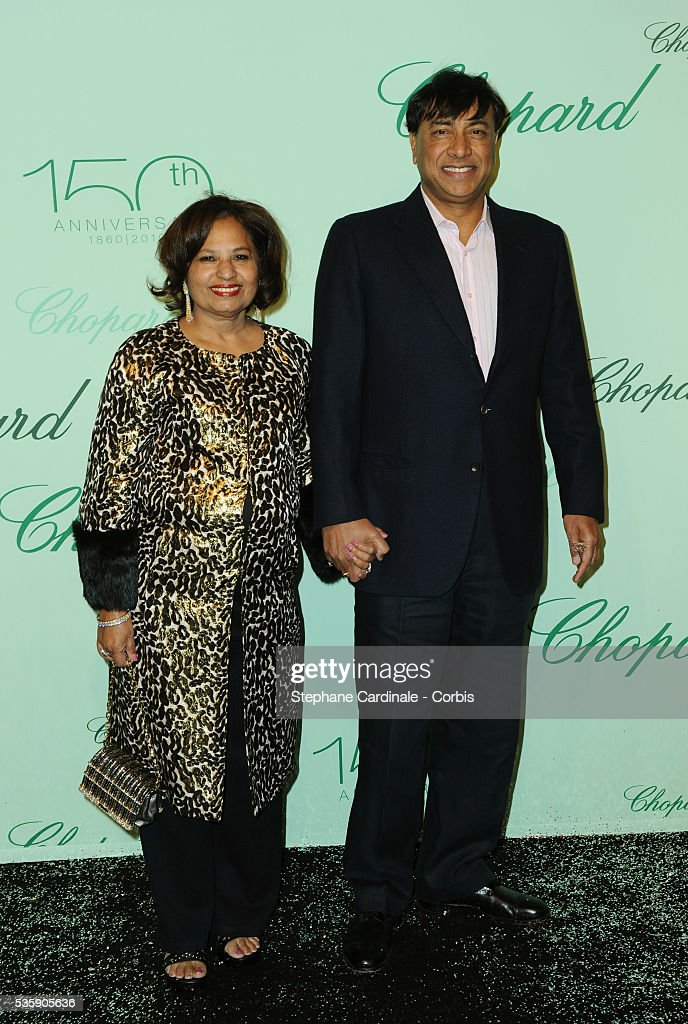 Usha Mittal and Lakshmi Mittal at the 'Chopard 150th Anniversary Party' during the 63rd Cannes International Film Festival.