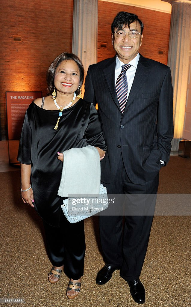 Usha Mittal and Lakshmi Mittal attend a donors dinner hosted by Michael Bloomberg Graydon Carter to celebrate the launch of the new Serpentine...