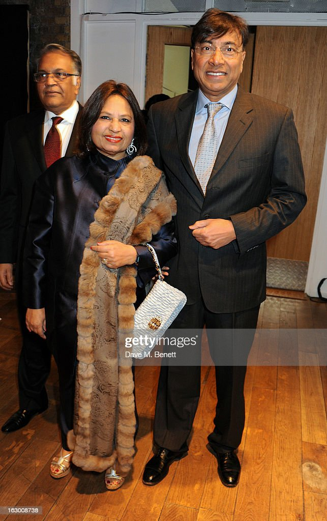 Usha Mittal and Lakshmi Mittal attend a Fashion Gala fundraiser hosted by the Akshaya Patra Foundation for underpriveleged children in India, at Vinopolis, on March 2, 2013 in London, England.