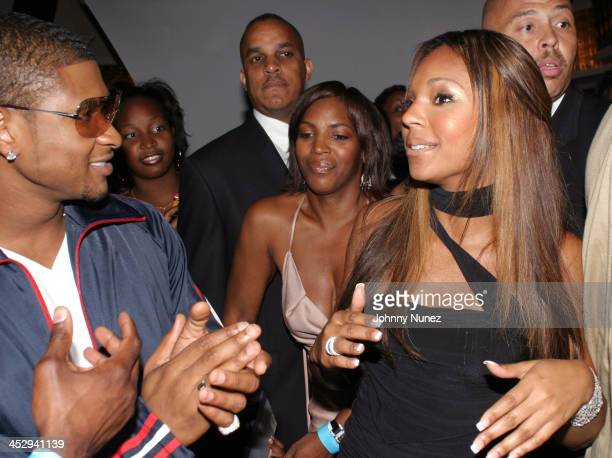 Usher and Ashanti during Elle Girl presents Ashanti's Album Release Party at The Lighthouse in New York City New York United States