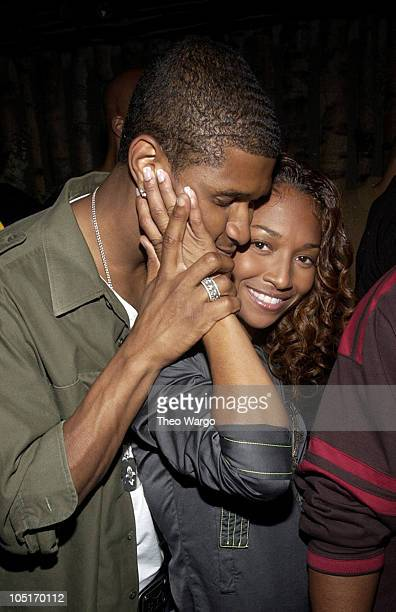Usher and Chilli during Narciso Rodriguez Hosts Carmen Kass' 25th Birthday Party at Butter in New York New York United States