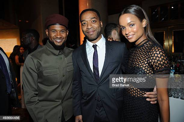 Usher and Chiwetel Ejiofor attend the Pencils Of Promise Gala 2015 at Cipriani Wall Street on October 21 2015 in New York City