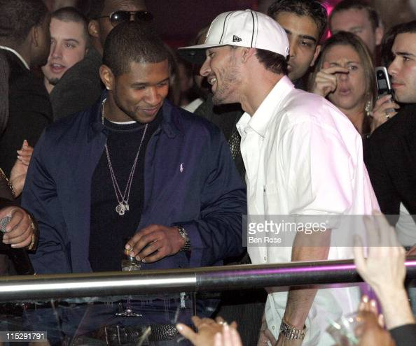 Usher and Kevin Federline during Belated Birthday Party for Kevin Federline with Britney Spears Hosted by Scooter Braun Inside at Vision Nightclub...