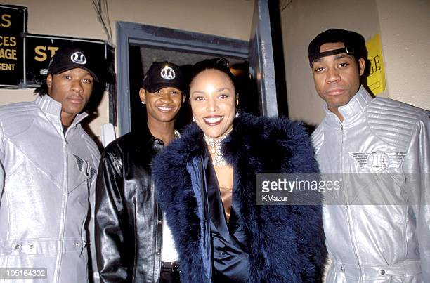 Usher and Lynn Whitfield during TNT Presents A Gift of Song New York January 1 1997 in New York City New York United States