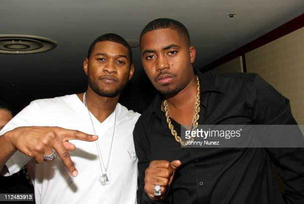 Usher and Nas during Kelis Throws Nas a Surprise Birthday Party with a Special Performance September 13 2006 at Canal Room in New York New York...