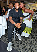 Usher and Rashan Ali attend the 10 Year Anniversary Celebration Dinner With Jeezy And The Street Dreams Foundation at 103 West on July 24 2015 in...