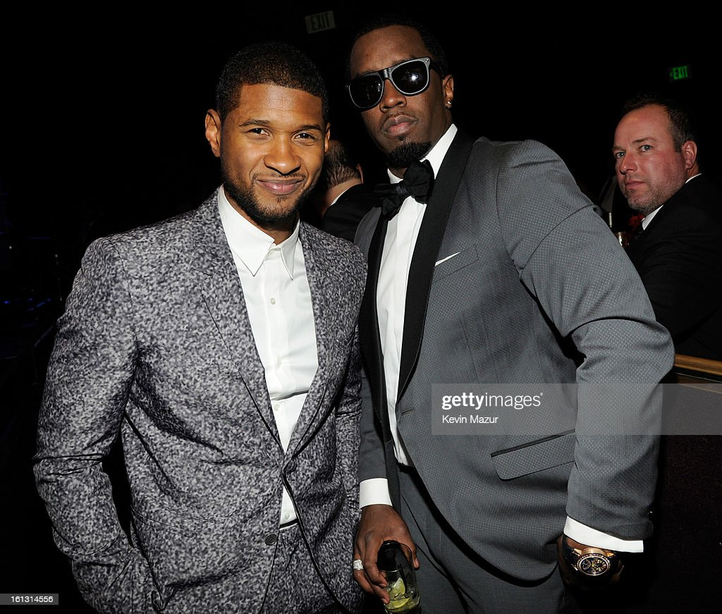 Usher and Sean 'Diddy' Combs attend the 55th Annual GRAMMY Awards Pre-GRAMMY Gala and Salute to Industry Icons honoring L.A. Reid held at The Beverly Hilton on February 9, 2013 in Los Angeles, California.