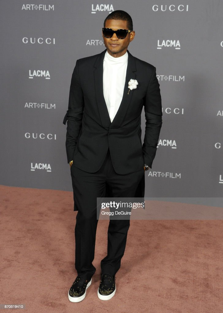 Usher arrives at the 2017 LACMA Art + Film Gala honoring Mark Bradford and George Lucas at LACMA on November 4, 2017 in Los Angeles, California.