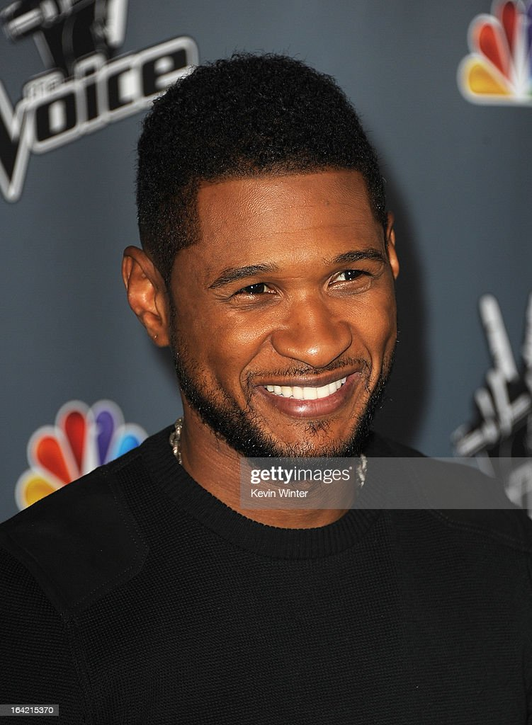 Usher arrives at the screening of NBC's 'The Voice' Season 4 at TCL Chinese Theatre on March 20, 2013 in Hollywood, California.