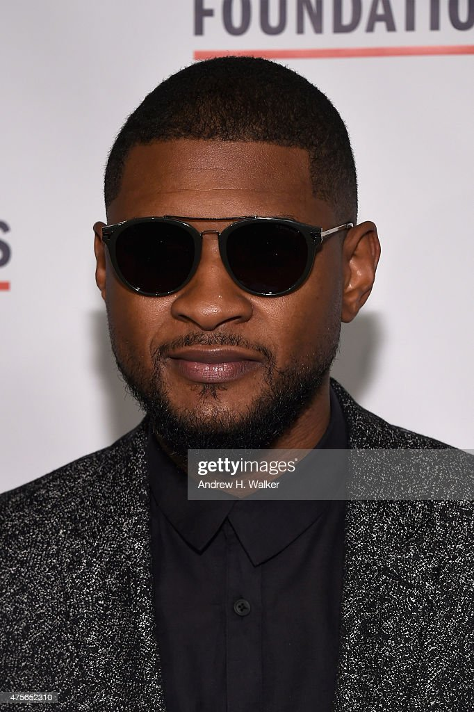 Usher attends the 2015 Gordon Parks Foundation Awards Dinner And Auction at Cipriani Wall Street on June 2 2015 in New York City